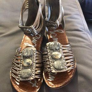 Sam Edelman Silver Gladiator Sandals